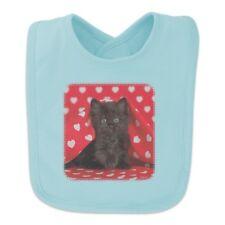 Black Ragdoll Tiffany Cat Kitten Hearts Love Baby Bib