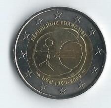 Pièce 2 euros commémo France 2009 (10 anniv Euro)