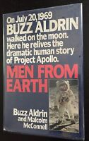 BUZZ ALDRIN & MALCOLM MC CONNELL - MEN FROM EARTH - 1ST ED. = UNCLIPPED JACKET