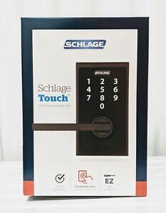 NEW Schlage Touch Century Lock Latitude Lever (Matte Black) FE695 CEN 622 LAT