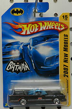 TV MOVIE COMIC SUPER HERO BATMAN BATMOBILE BLACK 66 07 15 2007 HW HOT WHEELS