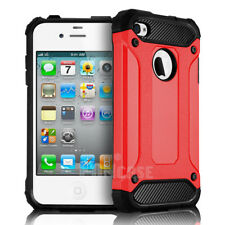 For Apple iPhone 4/4S Rugged Shockproof Rubber Matte Silicone Armor Case Cover