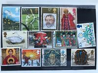United Kingdom 12 used VF stamps, all different England