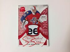 2015-16 UD The Cup #143 SAM BRITTAIN Rookie Patch Auto Red Tag 1/8