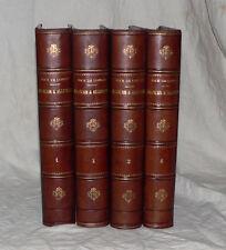 GUERRE DE 1870 : DICK DE LONLAY - FRANÇAIS ET ALLEMANDS. 4 VOLUMES RELIÉS