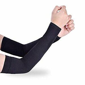 Long Black Arm Sleeves Islamic Full Cover Women Muslim Modest UV Protective