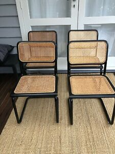 4 Dining Chairs. Style Of Marcel Brauer Cesca Chair