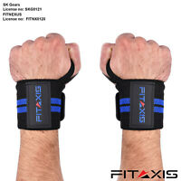 FITAXIS Wrist Wraps – Heavy Duty Professional Standard Weight Lifting Wrist Wrap