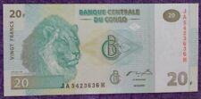 Congo 20 francs uncirculate bank note