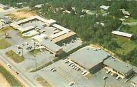 Macon GA~Aerial View~Ambassador Motel~Restaurant~Homes Behind~1972 Post Card