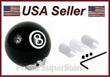 NEW BLACK 8-BALL STICK SHIFT KNOB AUTO CAR TRUCK 4 5 6 SPEED UNIVERSAL SHIFTER