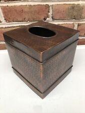 New listing Square Copper Hammered Tissue Holder / Cover / Box / Dispenser