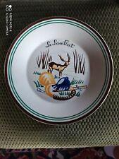 Assiette en Faïence HB Quimper signée J.Lachaud 1889-1952