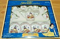 Walt Disney Snow White & Seven Dwarfs 13 Piece Mini Tea Set Schylling NEW in BOX