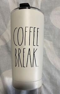 Rae Dunn COFFEE BREAK Ivory Stainless Steel 17oz Insulated Travel Tumbler