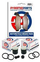 Full Front Brake Caliper Piston & Seals with Pads for Suzuki RMX250 1989-1999