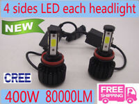 CREE H11 H8 H9 LED Lampadine Lampade Faro Luci 110W 30000LM Headlight Bulb 6000K