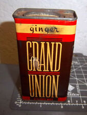 VINTAGE Grand Union GINGER 2.25 oz spice tin, Great Colors, Chicago Illinois
