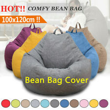 XL Large Adult Bean Bag Chair Sofa Couch Cover Indoor Outdoor Lazy Lounger Cover