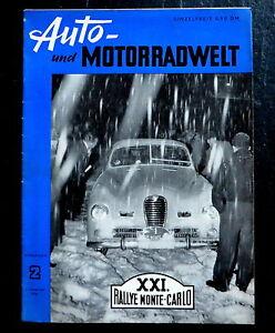 Auto- und Motorradwelt 02/51 Der Till-Roller, Ilo-Einbaumotoren, Motorradrahmen