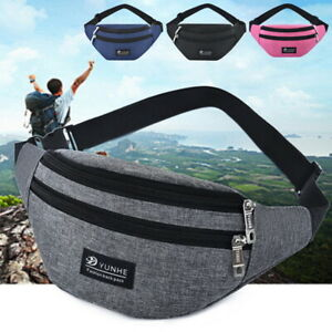 Women Sport Waist Bags Pouch Fanny Pack Men Travel Running Gym Belt Zip Bum Bags