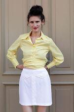 Damen Rock skirt weiß white 70er True VINTAGE 70´s women 80er elegant