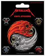 Metallica Vinyle Sticker - 1 Sheet, 5 Stickers