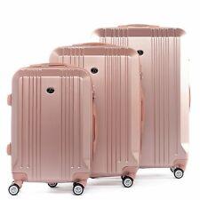 B-Ware 3er Kofferset rosegold Hartschalenkoffer Roll-Koffer 4 Rollen Trolley Set