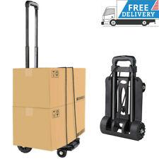 Folding Hand Truck/Dolly Metal Frame Capacity Heavy-Duty Luggage Trolley Cart US