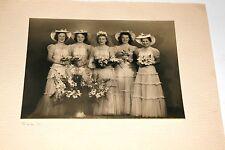 Mariage sposa + signore d'honneur - foto antica un. 1930 16 x 22 cm