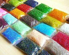 Rocailles Perlen Set 2mm 3mm Rund Glasperlen 20g x 30 Farben Schmuck Basteln Z22