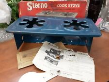 Vintage Sterno #46 Folding Double Service Cook Stove Survival Camping w Orig Box