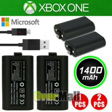 2x 1400mAh For XBOX ONE X S Eliet Play USB Charge Battery Pack & Charging Cable