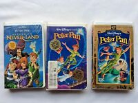 Peter Pan Lot of 3 Disney Rare Black Diamond/Classic/Masterpiece VHS Sealed New