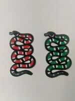 Small Snake Iron On Patches (2 pieces) gucci style 3 Color Combos USA SHIPPING