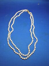 Vintage Costume Jewelry Faux Pearl Bead Necklace with Goldtone Clasp