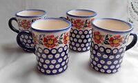 Unikat 4-Schöne Kaffee / Tee Tasse aus Bunzlauer Keramik; 250ml (*4029)