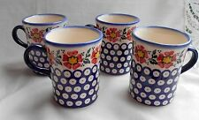 TOP 4-Schöne Kaffeen / Tee Tassen aus Bunzlauer Keramik; 250ml (*4029)