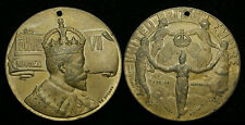 GB. Coronation of Edward VII 1902.  Brass (41mm) by H.B Sale, EF.