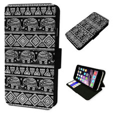 Aztec Elephants Pattern - Flip Phone Case Wallet Cover Fits Iphone 6 7 8 X 11