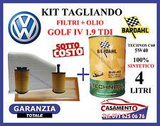 KIT TAGLIANDO OLIO BARDAHL 5W40 4LT + 4 FILTRI VW GOLF IV 1.9 TDI