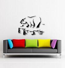 Wall Stickers Vinyl Decal Polar Bear Arctic Ice Floe Animal  (ig337)