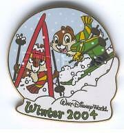 Disney Chip & Dale Skiing Surprise Release Pin