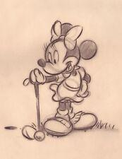 WALT DISNEY GOLF ART PRINT - Minnie's Golfing Day 11x14 Minnie Mouse Poster