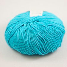 Plymouth Yarn Vita Cotton Cashmere Blend #120 Blue Mist / Turquoise Loom Knit
