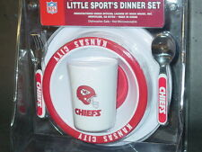 NFL Kids Dinner Set, Kansas City Chiefs, NEW