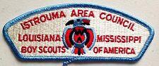 ISTROUMA AREA COUNCIL PATCH BOY SCOUT BSA OA 479 LOUISIANA MISSISSIPPI CSP