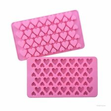 56 Cavity Silicone Mini Heart Mould Tray Cake Chocolate Ice Mold Jelly Baking