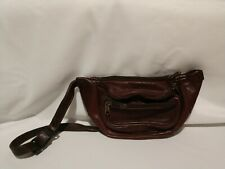 VINTAGE Leather Fanny Pack Mens Waist Belt Bag Womens Purse Hip Pouch Travel Bag