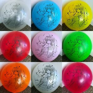 """NEW STYLE!!! Kawaii Anime Girl Printed Balloons in Tuftex 17"""" / 24"""" Multi-color"""